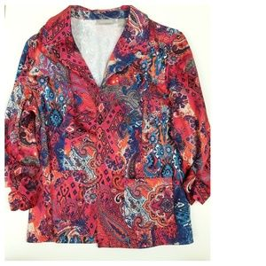 Chico's Womens Size 1 Open Front Career Jacket